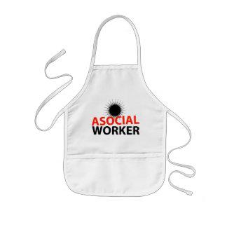 Trabajador asocial delantales