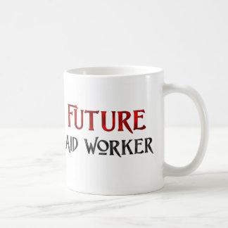 Trabajador de ayuda futuro tazas de café