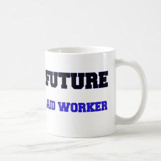 Trabajador de ayuda futuro tazas