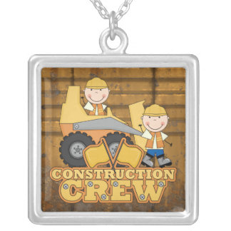 Trabajador de construcción colgante cuadrado