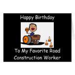 Trabajador de construcción de carreteras felicitación