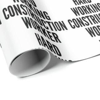 Trabajador de construcción de trabajo duro papel de regalo