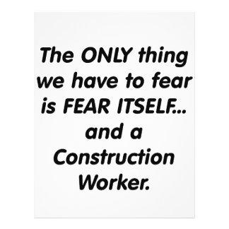 Trabajador de construcción del miedo tarjeta publicitaria