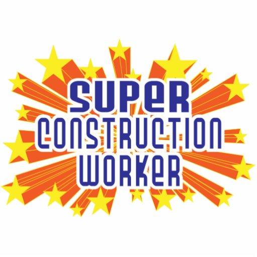 Trabajador de construcción estupendo adorno fotoescultura