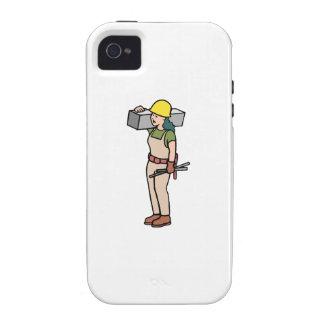 Trabajador de construcción iPhone 4 carcasa