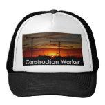Trabajador de construcción gorras de camionero