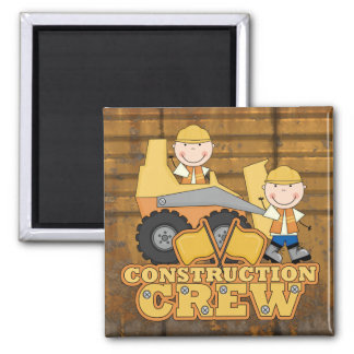 Trabajador de construcción imán cuadrado