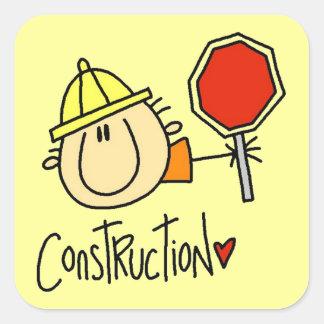Trabajador de construcción colcomanias cuadradases