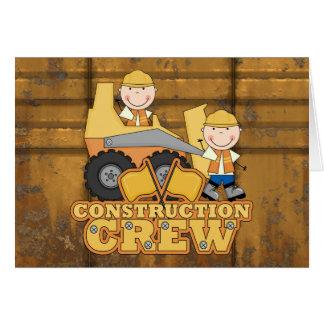 Trabajador de construcción tarjeta de felicitación