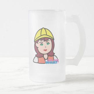 Trabajador de construcción tazas de café