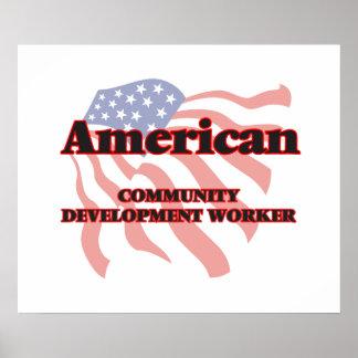 Trabajador de desarrollo americano de comunidad póster