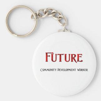 Trabajador de desarrollo futuro de comunidad llavero