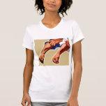 Trabajador de Fisted del poster dos de la propagan Camiseta
