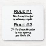 Trabajador de granja de la regla tapetes de raton