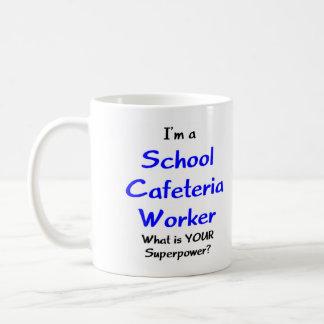 Trabajador de la cafetería de la escuela taza clásica