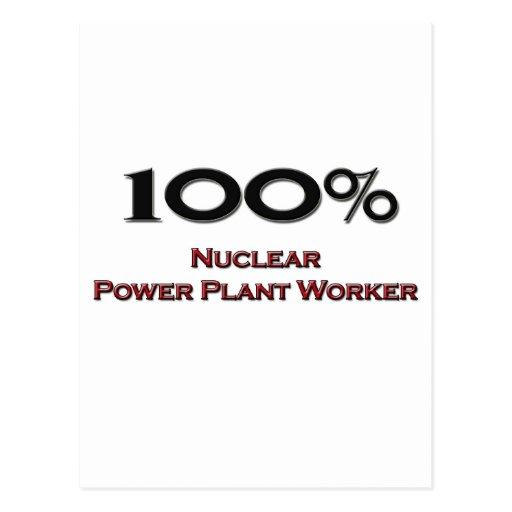 Trabajador de la central nuclear del 100 por cient tarjetas postales