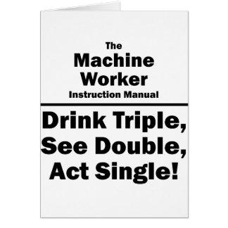 trabajador de la máquina tarjeta pequeña