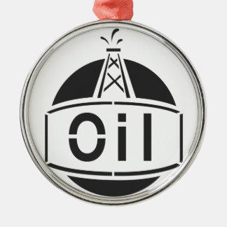 Trabajador de la plataforma petrolera adornos