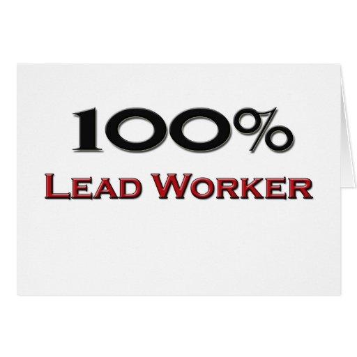 Trabajador de la ventaja del 100 por ciento tarjeta de felicitación