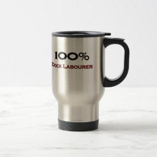 Trabajador de muelle del 100 por ciento tazas de café