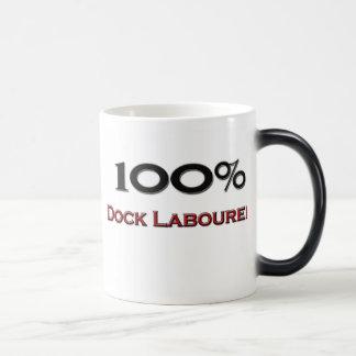 Trabajador de muelle del 100 por ciento taza de café