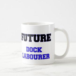 Trabajador de muelle futuro tazas
