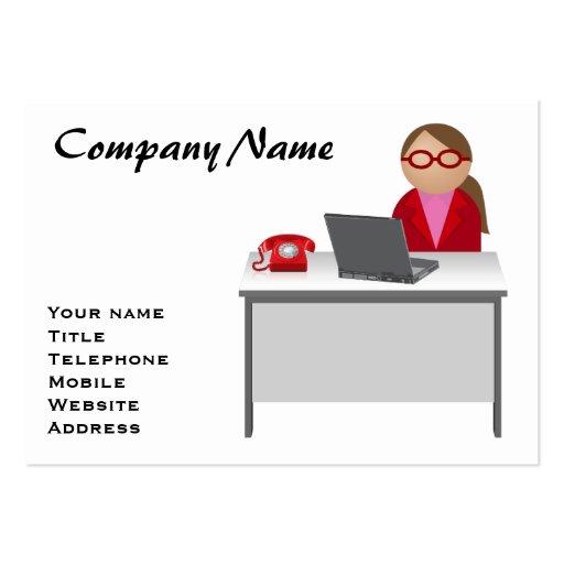 Trabajador de sexo femenino plantilla de tarjeta de visita