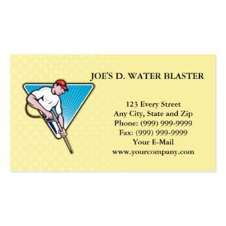 Trabajador del arenador del agua de la presión del tarjetas de visita