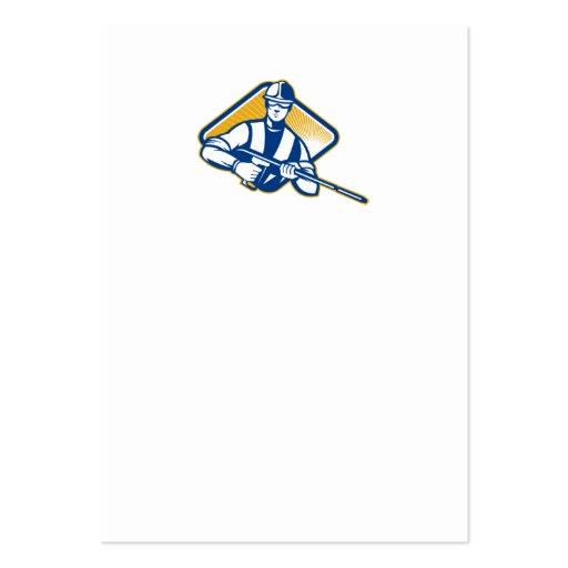 Trabajador del arenador del agua de la presión del tarjetas personales