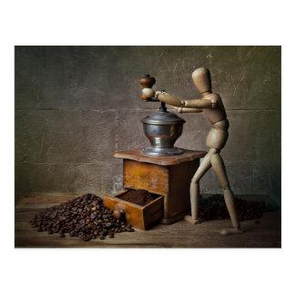 Trabajador del café postales