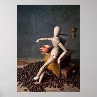 Trabajador del café póster