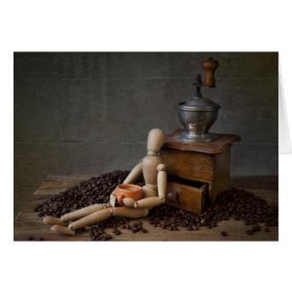 Trabajador del café tarjeta de felicitación