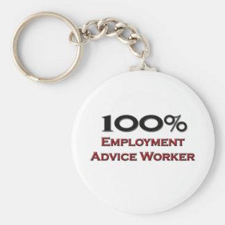 Trabajador del consejo del empleo del 100 por cien llaveros