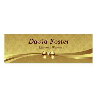 Trabajador del diamante - damasco brillante del tarjetas de visita mini