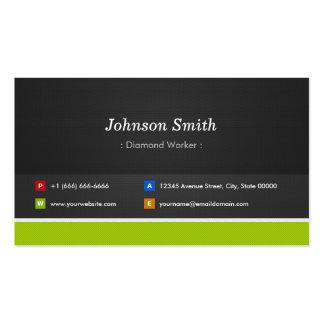 Trabajador del diamante - profesional y premio tarjetas de visita