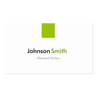 Trabajador del diamante - verde menta simple tarjetas de visita
