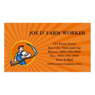 Trabajador del granjero de la tarjeta de visita