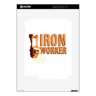 Trabajador del hierro skins para iPad 2