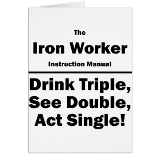 trabajador del hierro tarjeta pequeña
