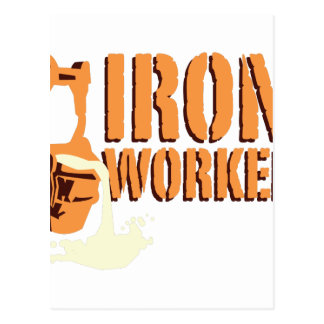 Trabajador del hierro tarjeta postal