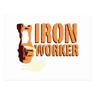Trabajador del hierro tarjetas postales