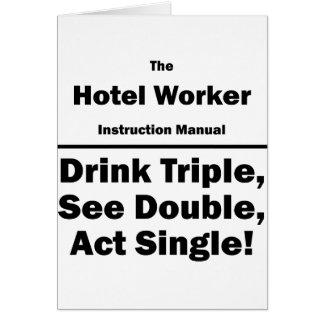 trabajador del hotel tarjeta pequeña