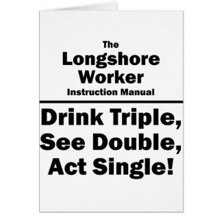 trabajador del longshore tarjeta pequeña