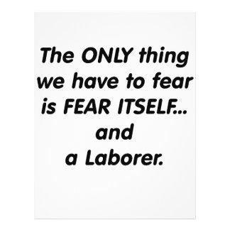 Trabajador del miedo flyer personalizado