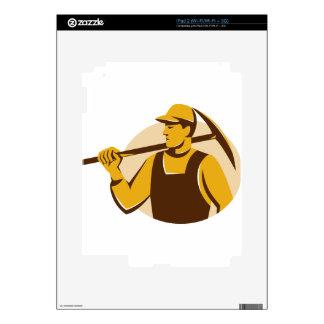 trabajador del minero con el hacha de la selección calcomanías para iPad 2