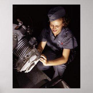 Trabajador del torbellino de Wright, los años 40 Póster