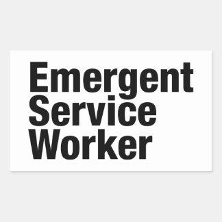 Trabajador emeregente del servicio pegatina