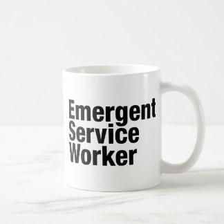 Trabajador emeregente del servicio taza clásica