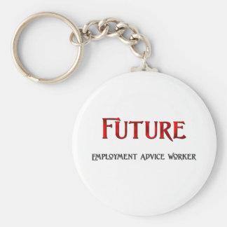 Trabajador futuro del consejo del empleo llavero personalizado