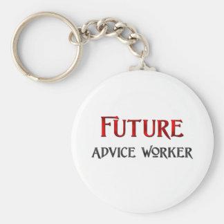 Trabajador futuro del consejo llaveros personalizados